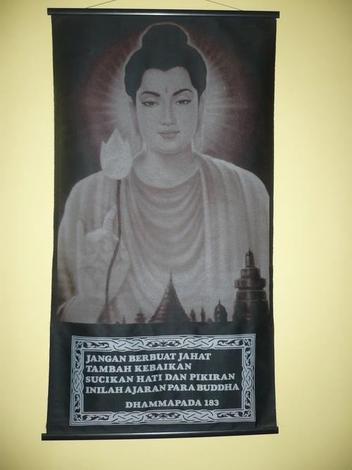 Poster di ruang Puja di rumah saya