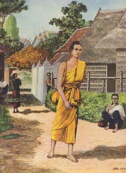 Boddhisatta memasuki Rajagaha, masyarakat berbisik2 membicarakan-Nya