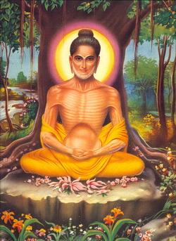 Boddhisatta menyiksa diri hingga tubuh-Nya kurus kering
