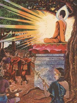 Penghormatan dari para Naga, Dewa, Brahma, atas pencapaian Pencerahan Sang Buddha