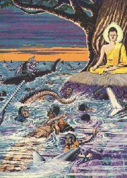 Ibunda Bumi menyapu Mara dan tentaranya dengan berbagai bencana