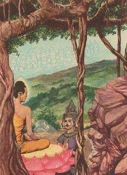 Maha Brahma Sahampati memohon agar Buddha sudi mengajarkan Dhamma pada semua makhluk