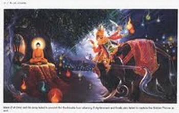 Mara dan bala-tentaranya menyerang Boddhisatta