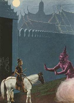 Mara mencegah kepergian Boddhisatta