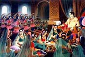 Penari2 yang disediakan Raja Suddhodana berusaha keras menyenangkan Pangeran Siddhattha
