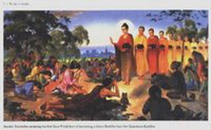 Petapa Sumedha (Boddhisatta) Mengorabankan diri , menjadi jembatan bagi Buddha Dipankara dan para Arahat